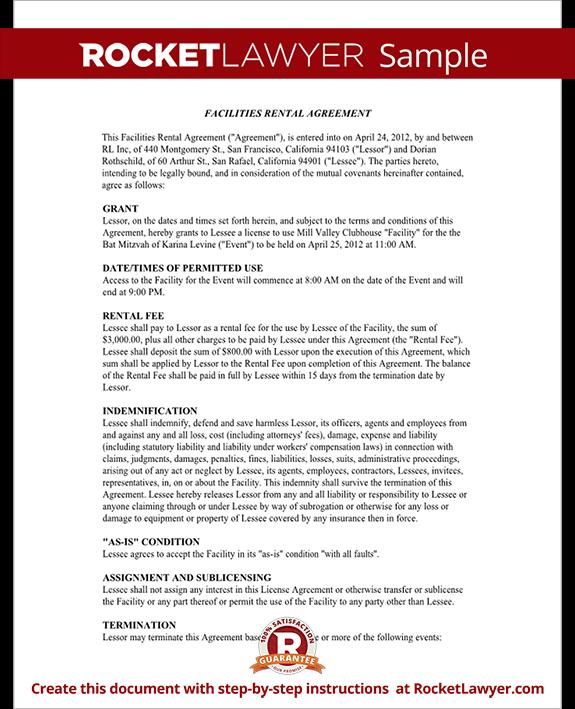 wedding venue contract template .