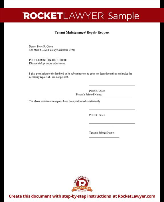 apartment maintenance request form template .