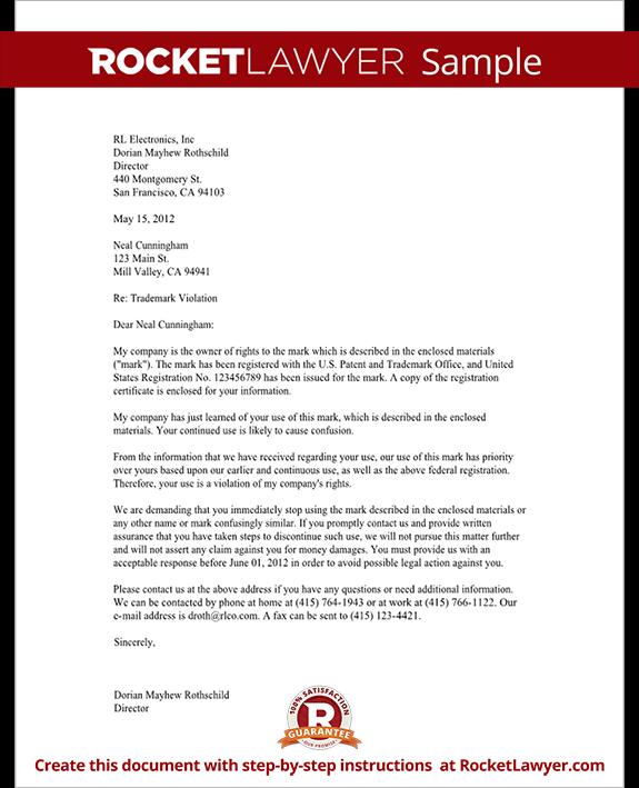 Trademark Violation Letter