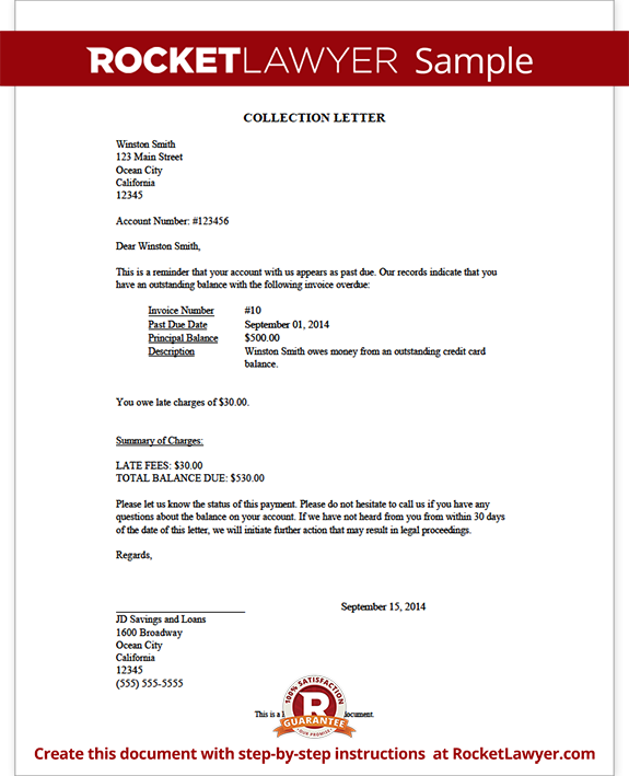 Collection Letter Form Template