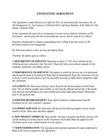 Sample Independent Consulting Agreements