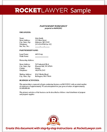 Sample Partnership Agreement  Partnership Agreement Free Template