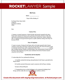 Bid Contract Template Kleobeachfixco - Concrete contractor contract template