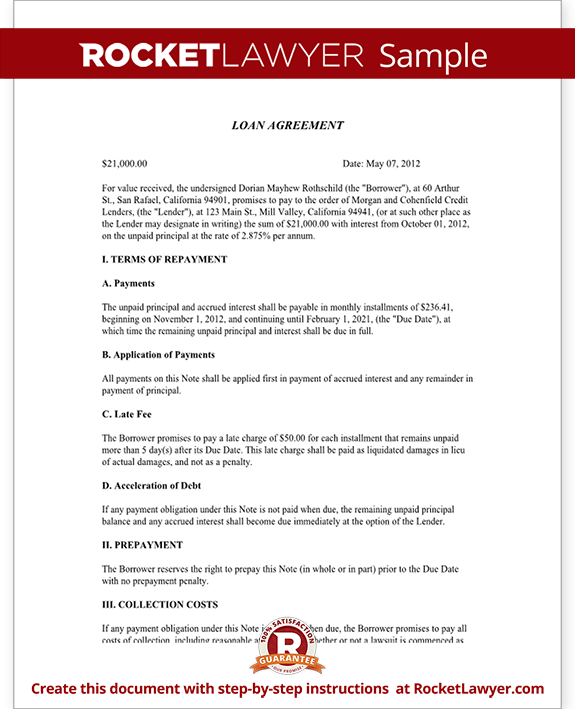 Sample Loan Agreement Form