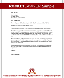 termination letter for employee template with sample
