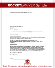 Sample Warranty Deed Form Template