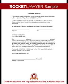 affidavit letter samples