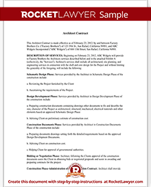 Architect contract agreement for client individuals with sample sample architect contract platinumwayz