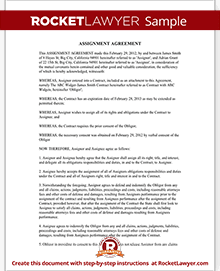Sample Assignment Agreement