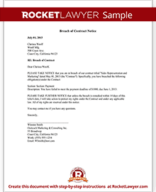 Sample Breach Of Contract Notice