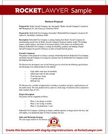 Business Proposal Template Free Business Proposal Sample - Free business plan proposal template