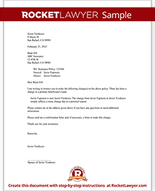 Beneficiary letter sample for Crummey letter template