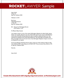 Child support review letter request review with sample sample child support review letter spiritdancerdesigns Images