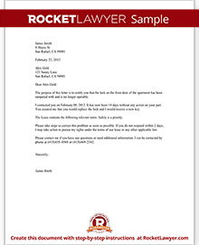 Complaint letter to landlord template with sample sample complaint to landlord altavistaventures Gallery
