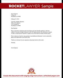 Confirmation of Enrollment Letter with Sample