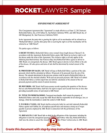 Sample Consignment Agreement  Free Consignment Contract Template