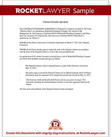 contract extension letter agreement with template form