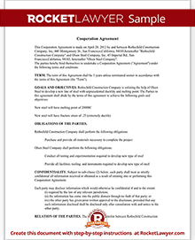 Cooperation agreement contract rocket lawyer cheaphphosting Image collections