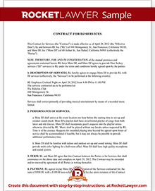 Dj contract template dj agreement with sample sample dj contract pronofoot35fo Image collections
