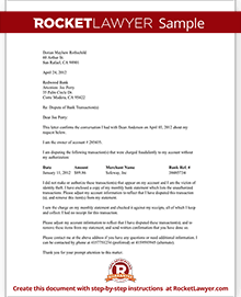 Dispute fraudulent bank transaction letter with sample sample dispute fraudulent bank transaction spiritdancerdesigns Image collections