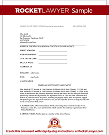 Sample Divorce Settlement Agreement  Example Of Divorce Decree