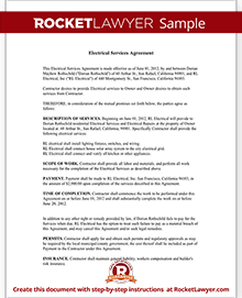 installation contract template