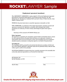 Employment agreement amendment form with sample sample employment agreement amendment thecheapjerseys Choice Image
