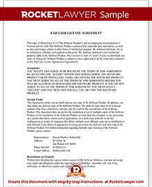Sample End User License Agreement  End User Documentation Template