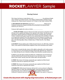 flooring contract template