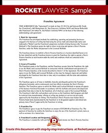 Lovely Sample Franchise Agreement
