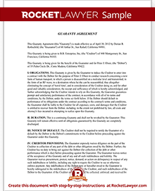 Sample Guaranty Agreement