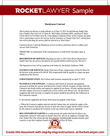 handyman contract sample