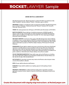 Sample Home Rental Agreement