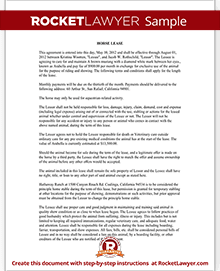 Horse Lease Agreement Horse Lease Contract Form With Sample