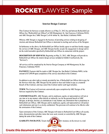 Interior Design Contract Agreement Template with Sample