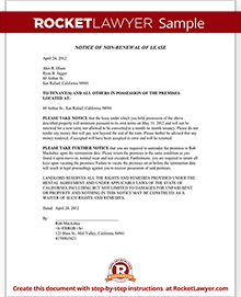 Landlord's Notice of Non Renewal of Lease to Tenants (with Sample)