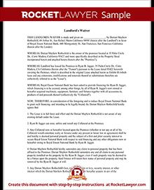 Landlord waiver form lien waiver for landlords with sample sample landlords waiver platinumwayz