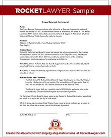 how to write a lease renewal letter