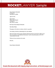 Letter to request a referral to another doctor template with sample sample letter to request a referral to another doctor thecheapjerseys Gallery