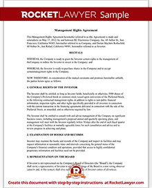 Investment Management Agreement   Management Rights Letter (with