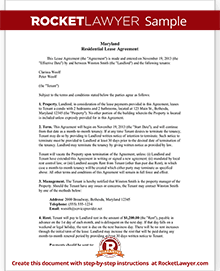 Maryland lease agreement md rental contract form with sample sample maryland lease agreement platinumwayz