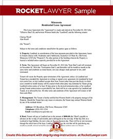 Minnesota lease agreement mn rental contract form with sample sample minnesota lease agreement platinumwayz