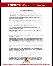 sample music publishing agreement