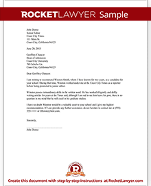 Sample Recommendation Letter  Sample Of Recommendation Letter
