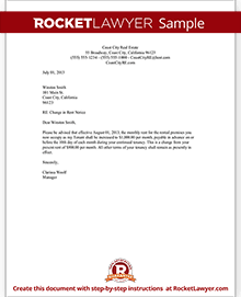 Rent Increase Letter Template | Rent Increase Notice | Rocket Lawyer