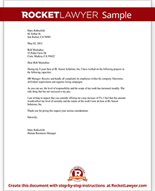 pay increase letter template