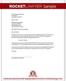 Request to place a password on a bank account letter template sample request to place a password on a bank account spiritdancerdesigns Images