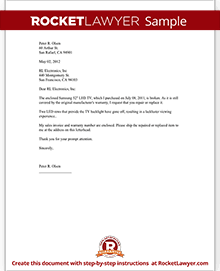Warranty repair request letter create a free template with sample spiritdancerdesigns