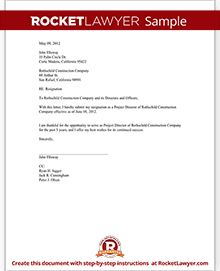 Director resignation letter template with sample sample resignation of director spiritdancerdesigns