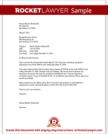 Letter to the IRS   IRS Response Letter Form (with Sample)